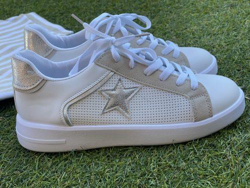 Zapatillas star beige /plata